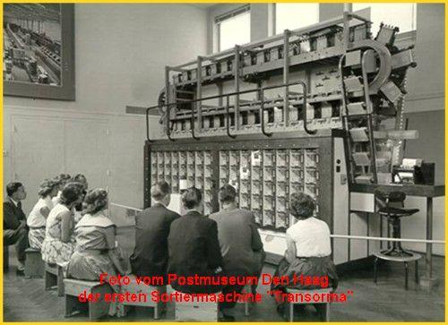 vollautomatische Briefverteilanlage 1956